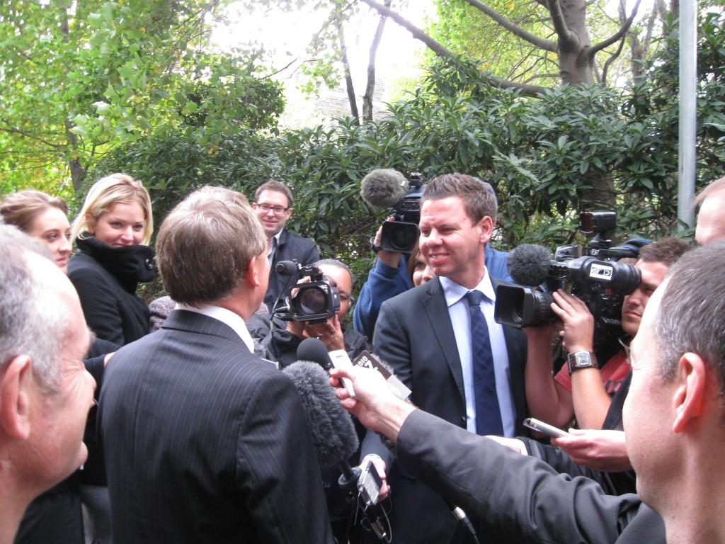 Patrick Gower and Phil Goff, 2011 (original image)