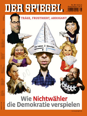Der Spiegel cover, 16 September 2013